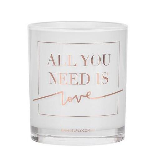 """All You Need Is Love"" Candle in Rose Gold by Damesfly"