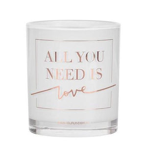All You Need Is Love Candle in Rose Gold