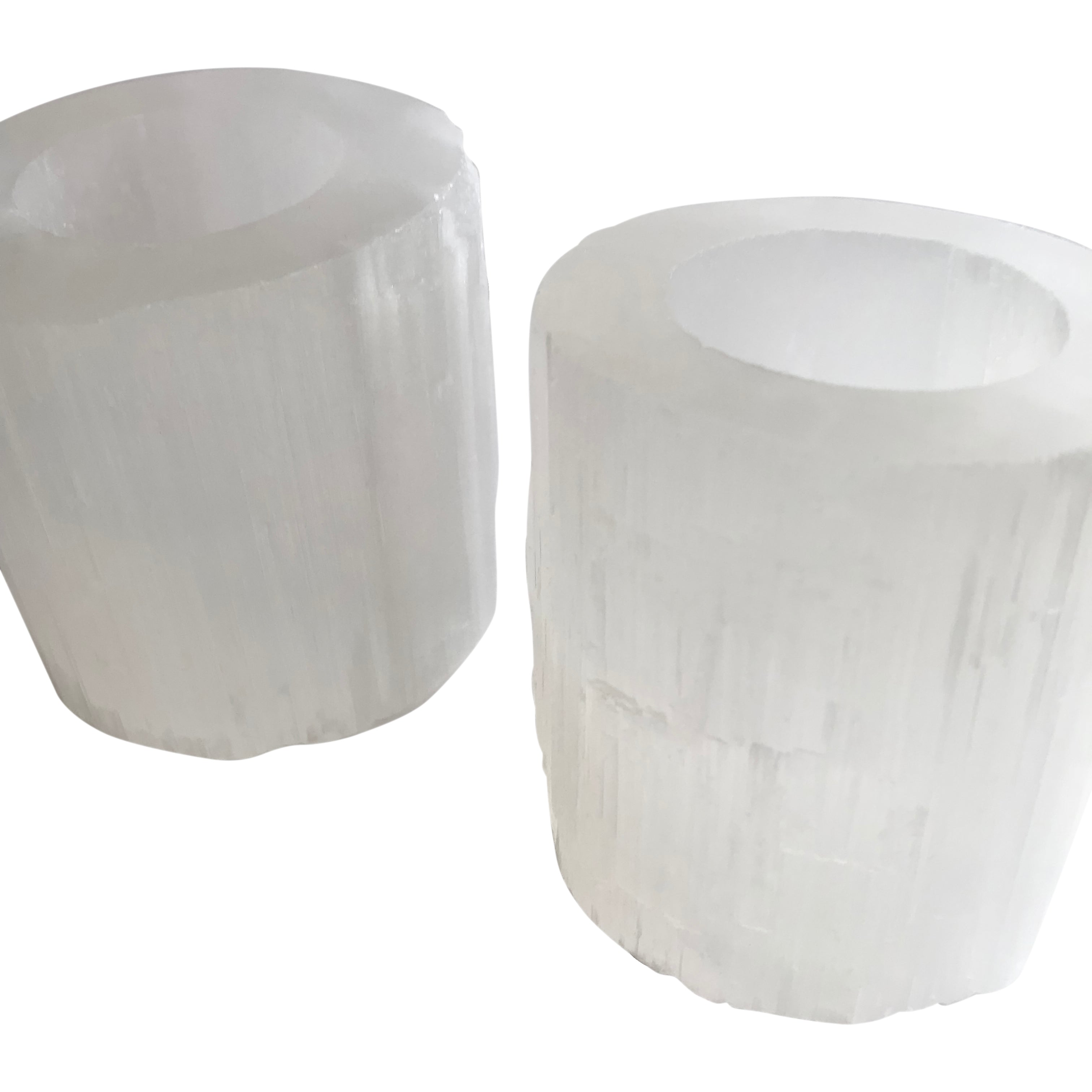 Selenite Tealight Holder Crystal - Clarity