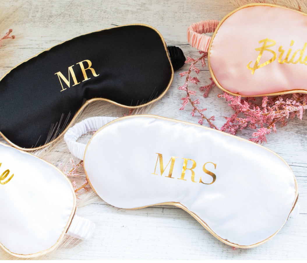 """MR"" Black + White Eye Mask by Cristina Re"