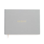 """GUESTS"" Grey Linen Guestbook by Sugar Paper LA"