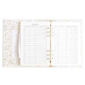 """You + Me"" Gold Floral Wedding Planner by Fox + Fallow"