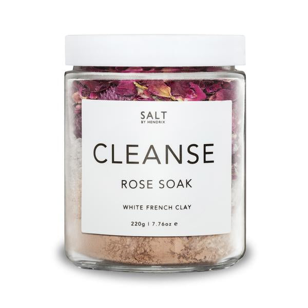 Cleanse Rose + Pink French Clay Bath Soak by Salt by Hendrix