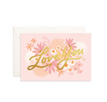 """Love You"" Floribunda Mini Greeting Card"