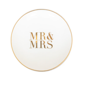 MR + MRS Trinket Ring Dish by Cristina Re