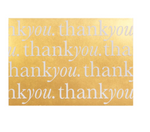 """Thank You"" Gold Card Set of 10  by Cristina Re"