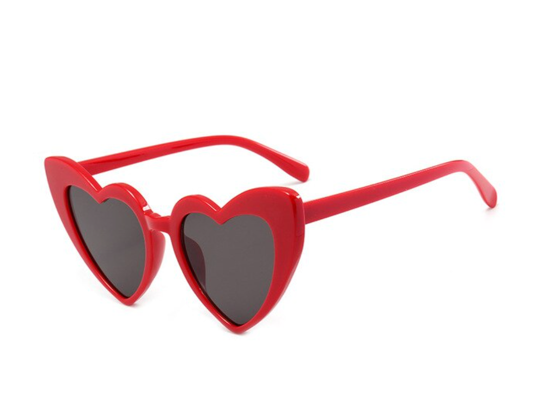 PRE ORDER Love Heart Honeymoon Sunglasses - Red