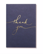 "Navy + Gold Foil ""Thank You"" 10 Card Set by Alice Pleasance"