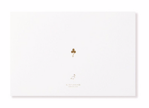 "White + Gold Foil Embossed ""Thank You"" 10 Card Set by Alice Pleasance"