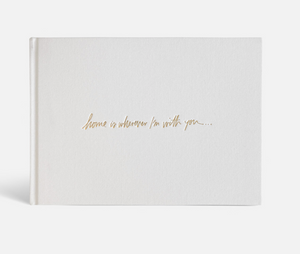 """Home is wherever I'm with you"" Wedding Guestbook by Blacklist"