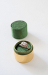 Velvet Ring Box - Emerald Green