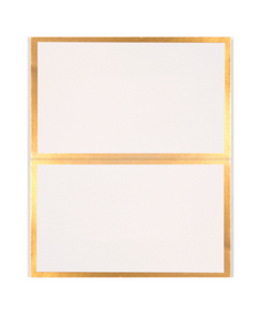 White + Gold Placecards - 10 Pack