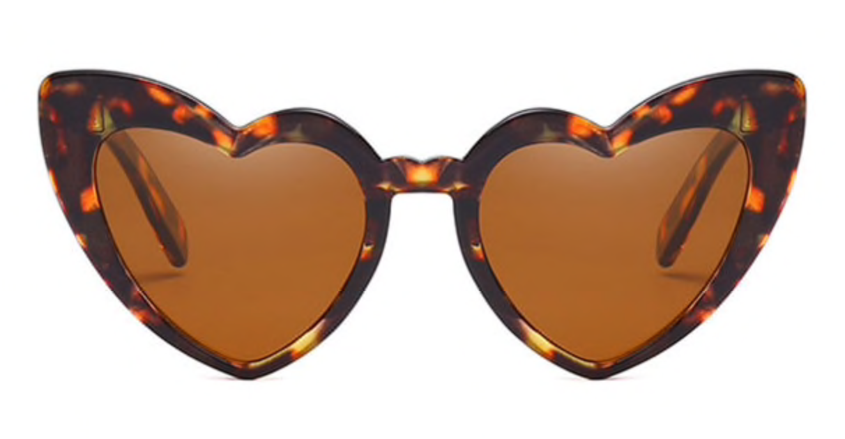 Love Heart Honeymoon Sunglasses - Tortoise Shell