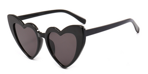 Love Heart Honeymoon Sunglasses - Black