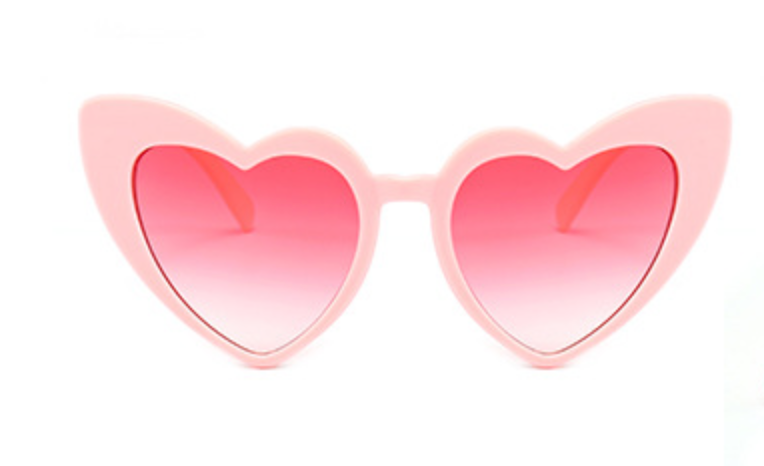 Love Heart Honeymoon Sunglasses - Pink