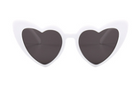 Love Heart Honeymoon Sunglasses - White