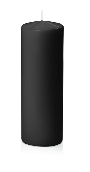 Black Pillar Candles