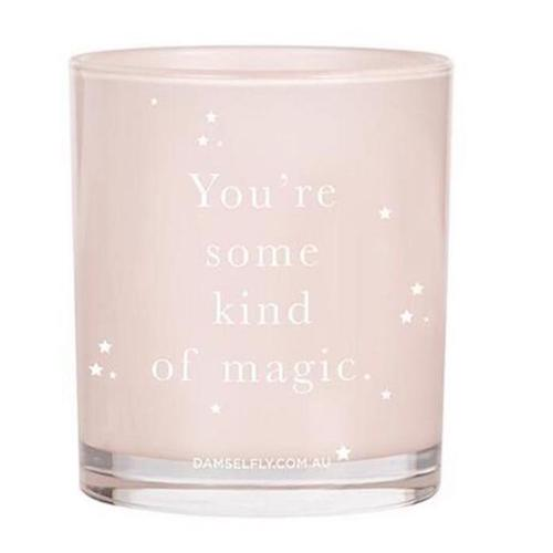 """You're Some Kind Of Magic"" Candle in Blush Pink by Damesfly"