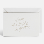 """From The Bride + Groom"" 10 Pack Card Set by Blacklist"
