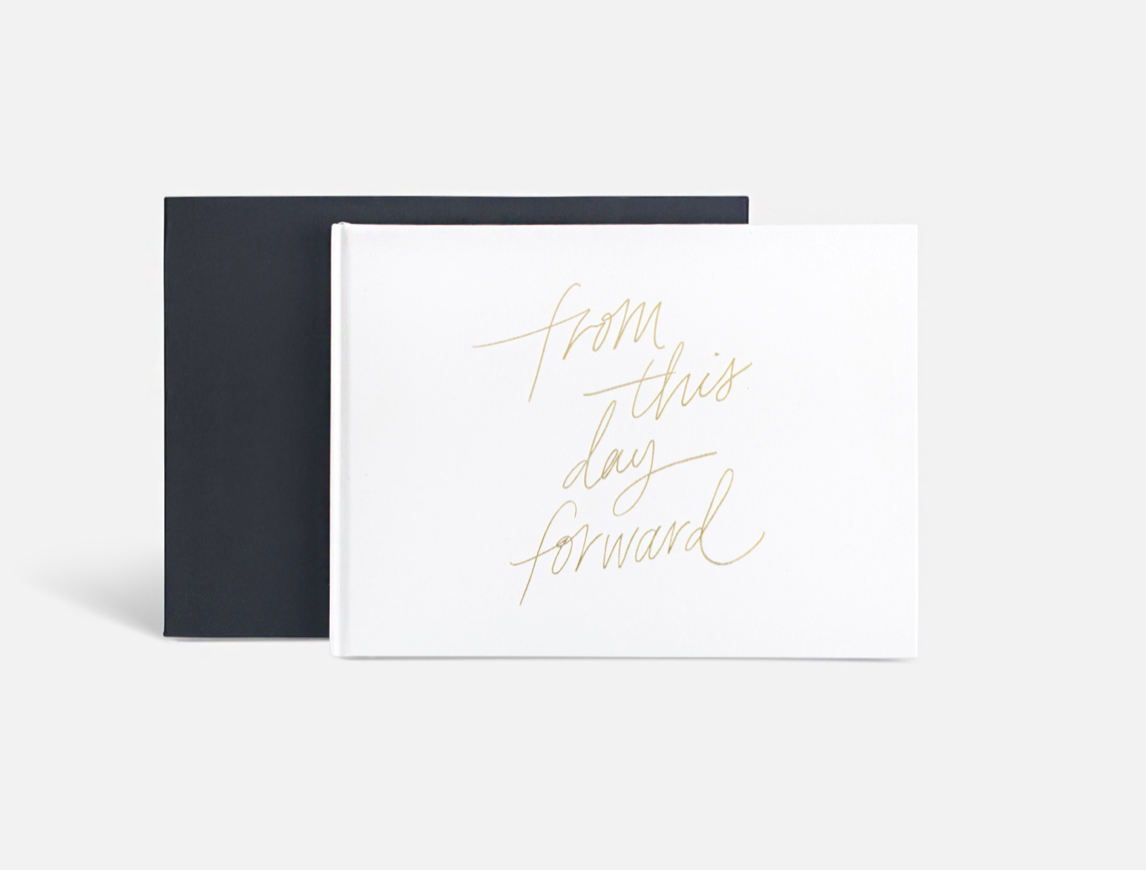 """From This Day Forward"" Wedding Guestbook by Blacklist"