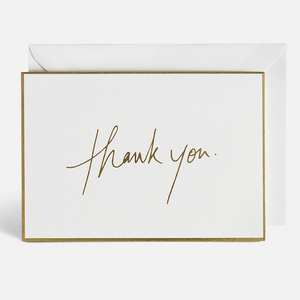 """Thank You"" Gold Foil 10 Pack Card Set by Blacklist"