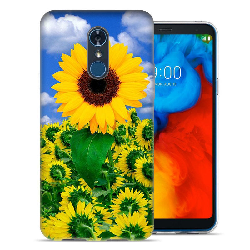 LG Stylo 4 Sunflowers Design TPU Gel Phone Case Cover