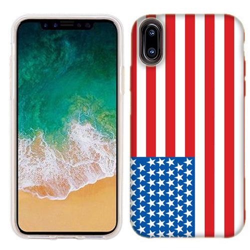 Apple iPhone X American Flag Phone Cases