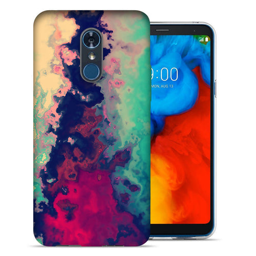 LG Stylo 4 Watercolor Paint Design TPU Gel Phone Case Cover