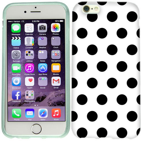 Apple iPhone 6s Plus Black Polka Dots Case Cover