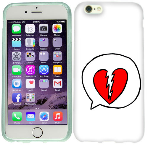 Apple iPhone 6s Plus Broken Heart Case Cover