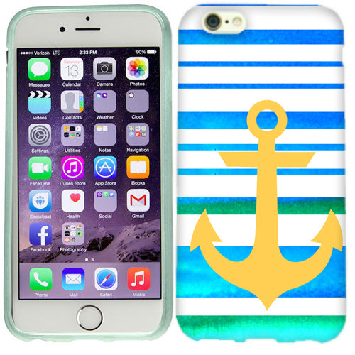 Apple iPhone 6s Plus Blue Anchor Stripe Case Cover