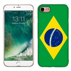 Apple iPhone 7 Brazil Flag Phone Cases