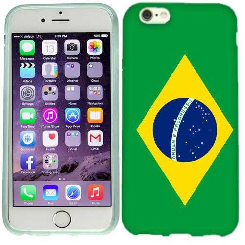 Apple iPhone 6s Plus Brazil Flag Case Cover