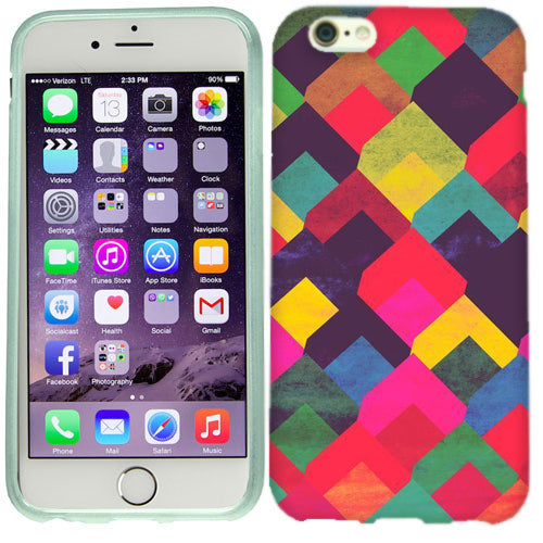 Apple iPhone 6s Plus Color Square Case Cover