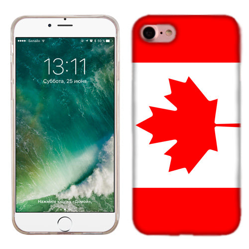 Apple iPhone 7 Canada Flag Phone Cases