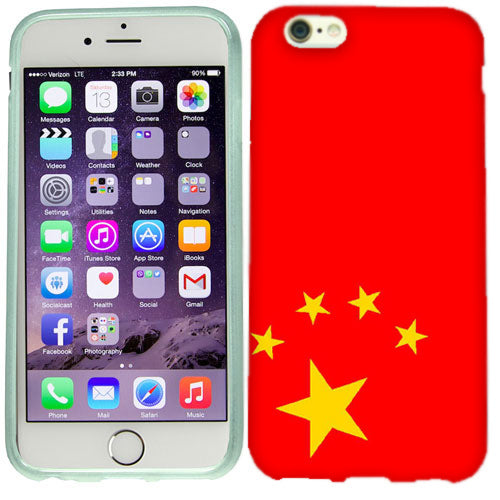 Apple iPhone 6s Plus Chinese Flag Case Cover