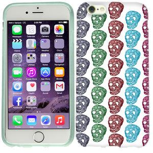 Apple iPhone 6s Color Skulls Case Cover