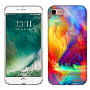 Apple iPhone 7 Feathered Colors Phone Cases