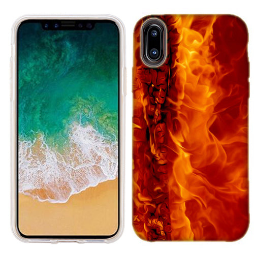Apple iPhone X Raging Fire Phone Cases