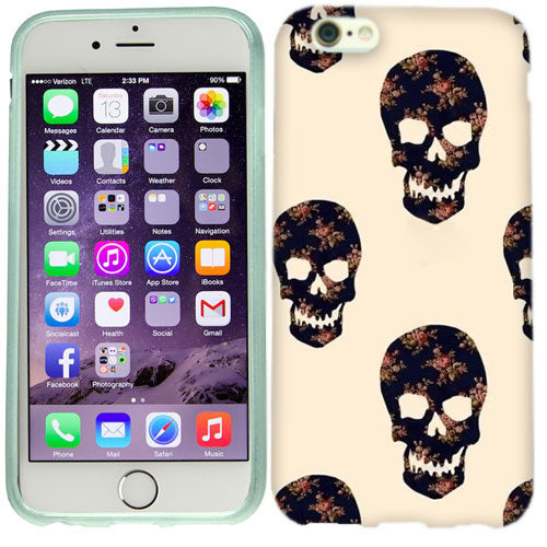 Apple iPhone 6s Plus Flower Skulls Case Cover