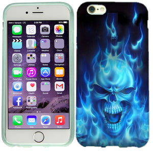 Apple iPhone 6s Plus Flaming Skull Case Cover