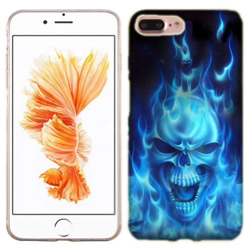 Apple iPhone 7 PLUS Flaming Skull Phone Cases