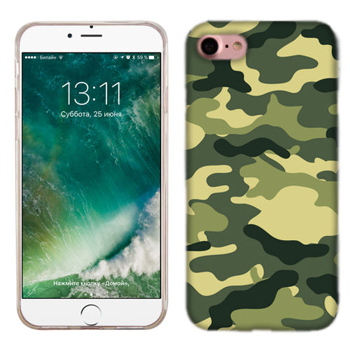 Apple iPhone 7 Green Camo Phone Cases