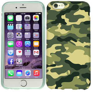 Apple iPhone 6s Plus Green Camo Case Cover