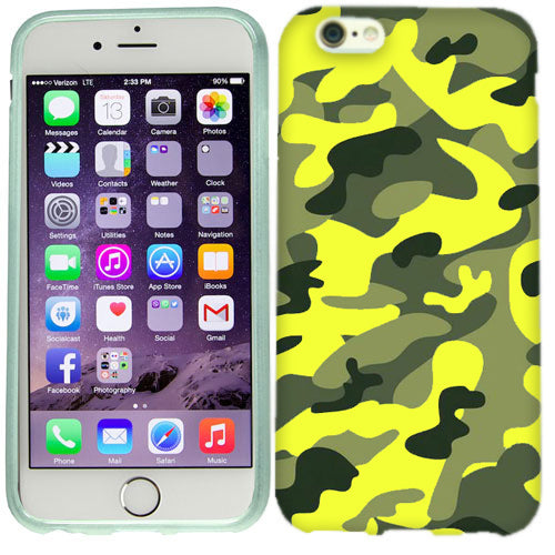 Apple iPhone 6s Plus Green Yellow Camo Case Cover