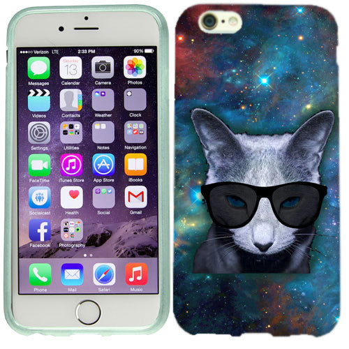 Apple iPhone 6s Plus Galaxy Cat Case Cover