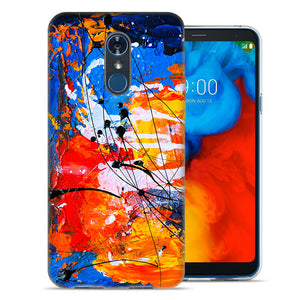 LG Stylo 4 Oil Paint Splatter Design TPU Gel Phone Case Cover