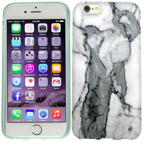 Apple iPhone 6s Plus Grey Marble Case Cover