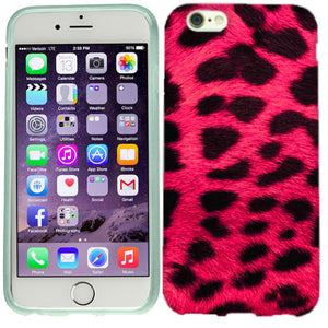 Apple iPhone 6s Plus Hot Pink Leopard Case Cover