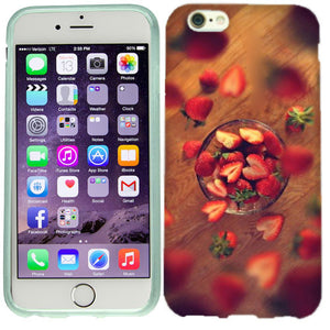 Apple iPhone 6s Plus Heart Strawberries Case Cover
